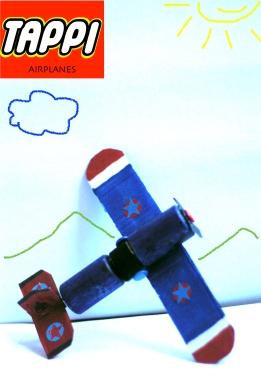 aereo a elica con tappi