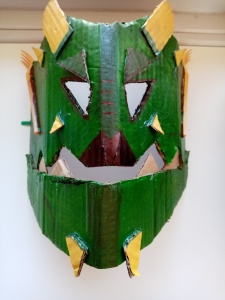 Maschera animata mostro retro